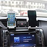 Glumes New Designed Air Vent Cell Phone Car Mount with Adjustable Size Up to 3.5'' | Secure Double Clamp Grip, Compact & Durable Holder for All Smartphones & iPhones (White)