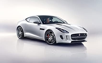 F Type Coupe >> Amazon Com 2014 Jaguar F Type R Coupe White 24x36 Poster Banner