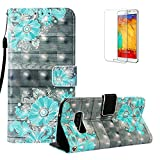 Funyye for Samsung Galaxy S10E Case [with Free Screen Protector],Stylish Magnetic Flip Soft Silicone PU Wallet Leather Case with Credit Card Holder Slots for Samsung S10E,Blue Flower
