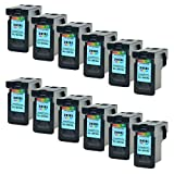 SuperInk 12PK Ink Cartridges Replacement Remanufactured Color CL-241XL 241 XL With Ink Level Display Indicator