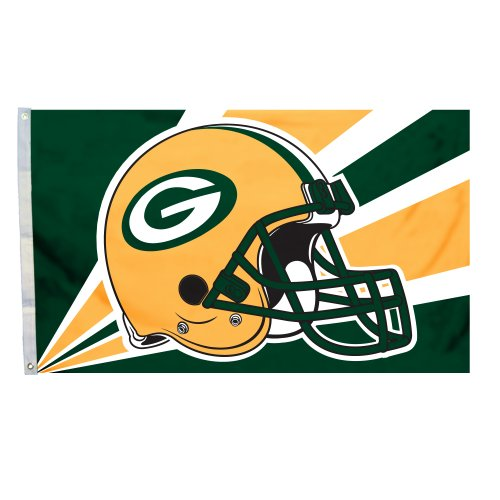 NFL Green Bay Packers 3-by-5 Foot Helmet Flag