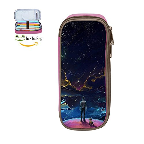 Large Capacity Canvas Pen Case Holder for Child,Print Human