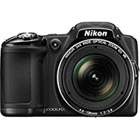 Nikon COOLPIX L830 16 MP CMOS Digital Camera with 34x Zoom NIKKOR Lens and Full 1080p HD Video (Black) (Certified Refurbished)