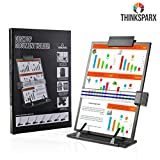 THINKSPARX Desktop Document Holder for Typing, 7 Easy Viewing Positions Easel Copy Paper Holder with Adjustable Clip and Line Guide, Hold Letter Legal A4 Documents Up to 150 Sheets