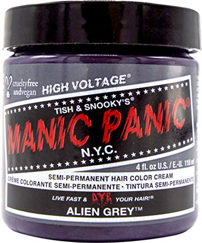 Manic Panic Alien Grey Medium Slate Grey Hair Dye