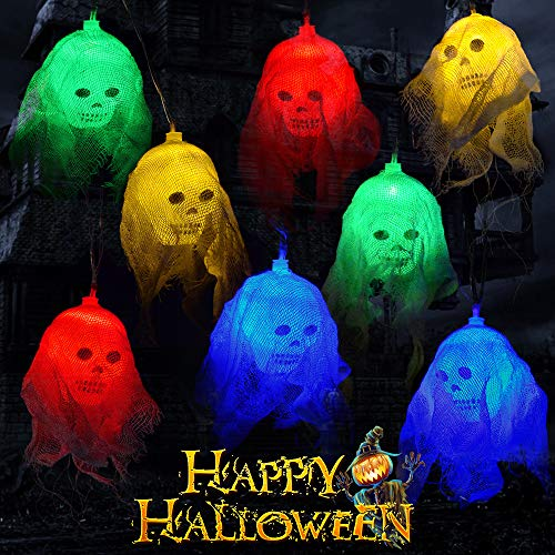 Not So Scary Halloween Party Prices (OCATO Halloween Lights Decorations Halloween Skeleton Skull Lights 10ft 20 LEDs Battery Operated Halloween String Light Flashing & Steady on Modes for Halloween Decorations Outdoor Indoor,)