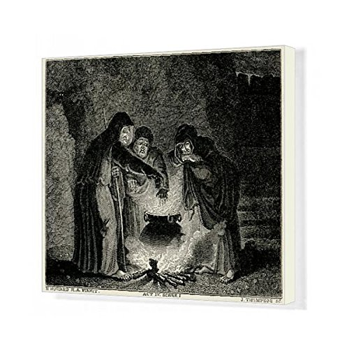 20X16 Canvas Print Of Macbeth/witches/cauldron (608330)