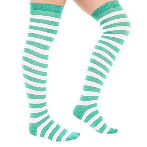 4 mujeres Styles And White l Above Para Elf noah Uk 6 Different 5 Knee las Green Socks 5U6c18Z