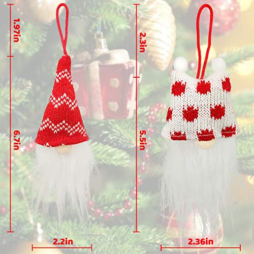 GoosWexmzl Christmas Tree Hanging Ornaments Set - Christmas Gnomes Decorations Holiday Plush Gnomes Santa Christmas Tree Decoration