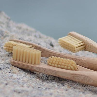 100% Biodegradable Natural Bamboo Toothbrush with Bamboo Fiber Bristle, Premium Vegan Organic Wood, BPA-Free, Eco-Friendly, Natural Dental Care, Environmentally Friendly Biodegradable Packaging,