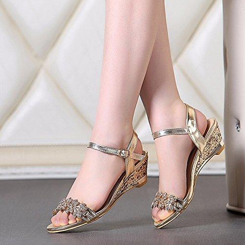 Shoes Con plata Diamantes Damas Sandalias 888 Dedos Dating Verano De Señoras Abrir Los ZrSZq