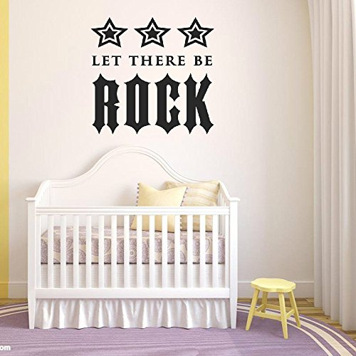 Price comparison product image Braverquotes Vinyl Art Mural Wall Quote Saying Stickers Decals Home Decor Let There Be Rock (Star Version)