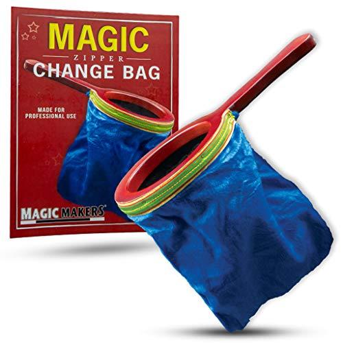 Blue Trick Magic - Magic Makers Magic Zipper Change Bag Magic Trick - Blue Bag