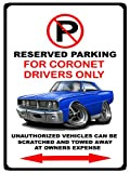 1966 Dodge Coronet Muscle Car-toon No Parking Sign