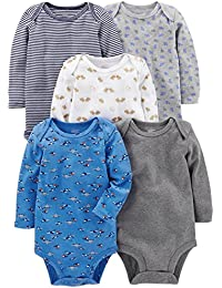 Baby Boys 5-Pack Long-Sleeve Bodysuit