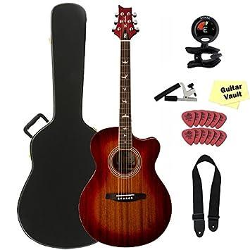 PRS Angelus A10E Cherry Sunburst acústica guitarra eléctrica con Kit de accesorios y PRS duro caso: Amazon.es: Instrumentos musicales