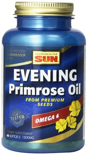 Gla 130 Primrose Oil (Health From The Sun Evening Primrose Oil 1300 Mg, 60-Count (Pack of 2))