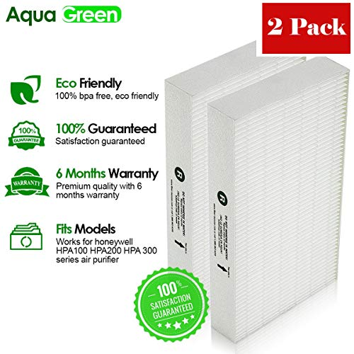 Aqua Green Honeywell HRF-R2 True HEPA Replacement Filter R - 2 Pack