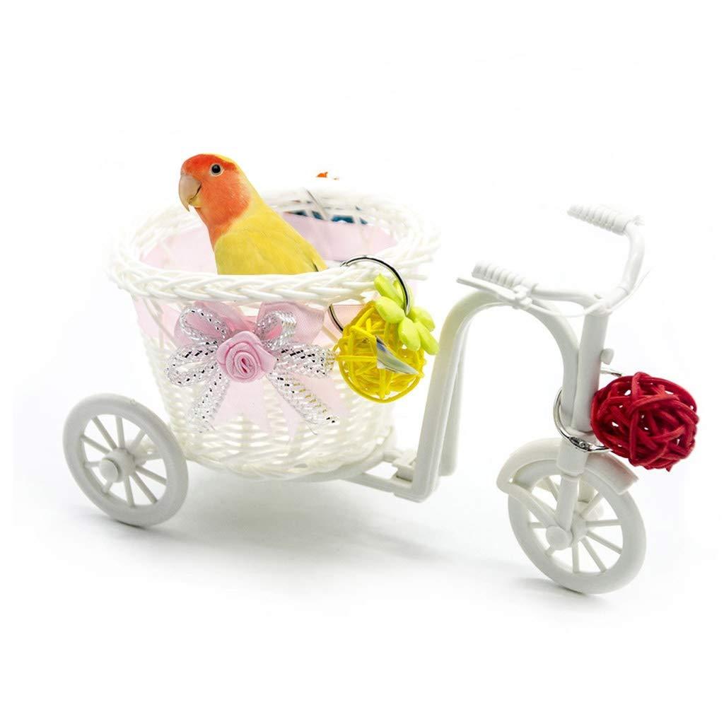 Bird toy Pet Intelligence Growth Rattan Ball - Mini Bike Trolley Shopping Cart Bird Parrot Toy by Bird toy