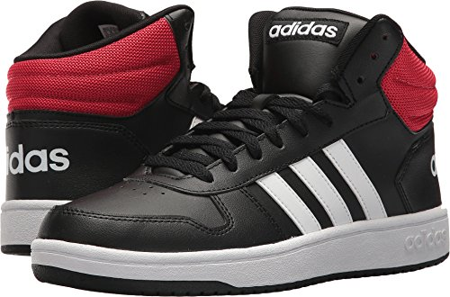 adidas Men's VS Hoops Mid 2.0, Core Black/White/Scarlet, 12 M US