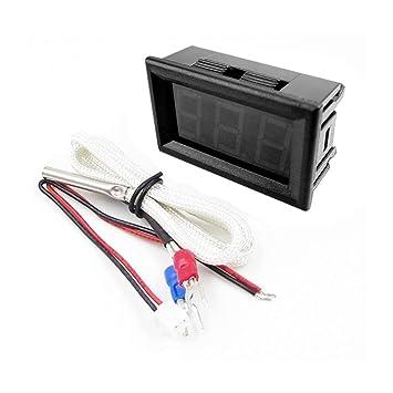 Termómetro portátil Mini Termómetro Digital Termómetro Digital LED -30~800 ℃ K-Tipo Industrial Termómetro XH-B310: Amazon.es: Electrónica