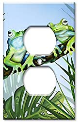 Art Plates - Green Frogs Switch Plate - Outlet Cover