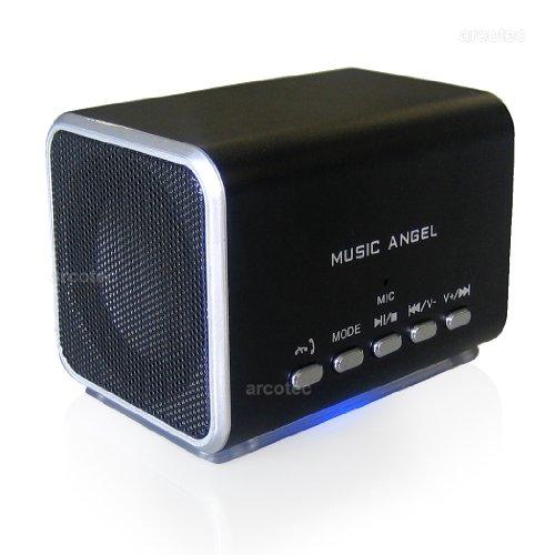 Coole Geschenkbox Weihnachtsgeschenk für den Freund / Mann / Jungen - Bluetooth Stereo Lautsprecher V2.0 - Music Angel mit Freisprecheinrichtung, mobile Handy Box für Sony Xperia Z3 Compact, Z2, Z1 / iPhone 6, 6 Plus / Samsung Galaxy S5, S5 mini, S4 umv