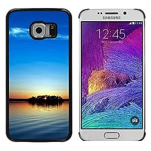 Be Good Phone Accessory // Dura Cáscara cubierta Protectora Caso Carcasa Funda de Protección para Samsung Galaxy S6 EDGE SM-G925 // Sunset Beautiful Nature 104