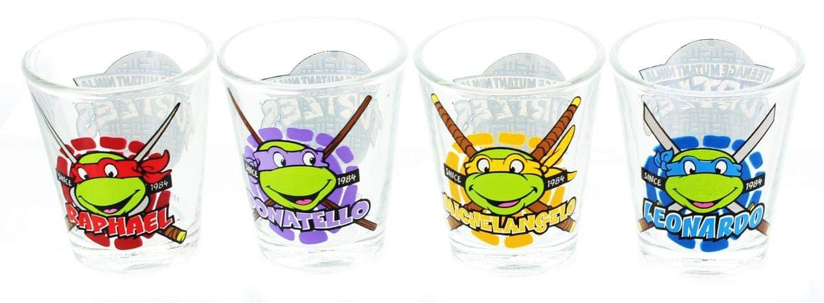 Teenage Mutant Ninja Turtles Name Face Shot Glass Set by ...