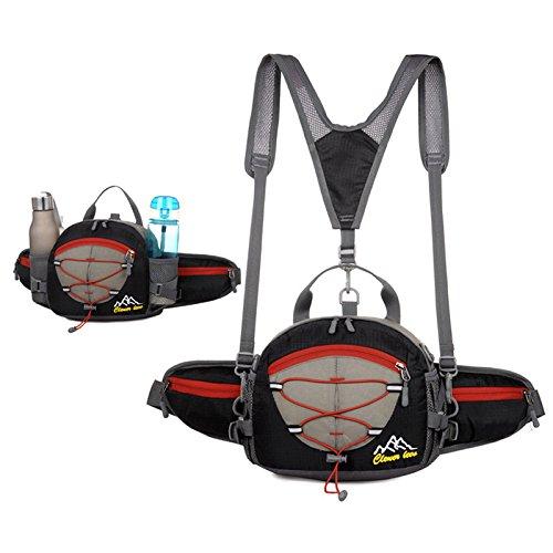 in zaino outdoor zaino grande nylon Bicicletta corsa campeggio con sport casual tasche borse trekking Ultralight arrampicata nero Black impermeabile Bike capacit zaino bag rrwv5fAqp