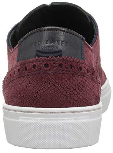 Ted Baker Mens Duuke Sneaker Rosso Scuro