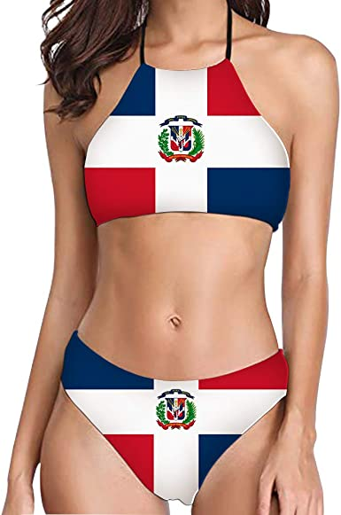 Foruidea Bandera de República Dominicana Traje de baño de Dos ...