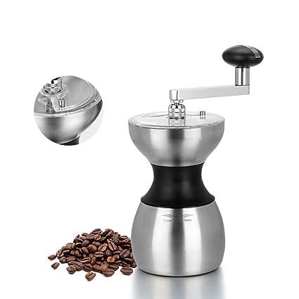 HY-pequeños electrodomésticos Molinillo de café Manual - Molinillo de café Manual de Acero Inoxidable