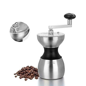 HY-pequeños electrodomésticos Molinillo de café Manual - Molinillo de café Manual de Acero Inoxidable - Máquina de café portátil Manual casera -225 * 95MM: ...