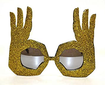 428844a790 Image Unavailable. Image not available for. Colour  Novelty Fashion OK  Finger Hand Gesture Costume Party Funny Glasses ...