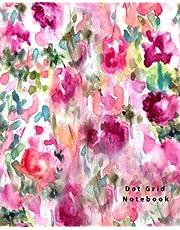 Dot Grid Notebook: 110 Dot Grid pages (Floral)