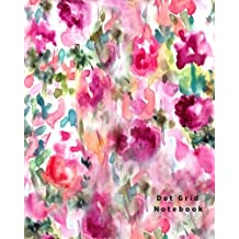 Dot Grid Notebook: 110 Dot Grid pages, (8 x 10) inches (Floral)