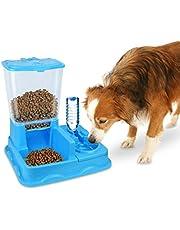 MEDIA WAVE store 3028 Dispensador automático de Alimentos y Agua para Perros y Gatos (Azul)