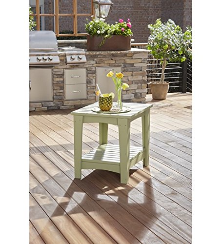 Uwharrie Chair Co G040-72-Sunshine Yellow-Dist-Pine Gallatin Side Table, Sunshine Yellow-Distressed ()