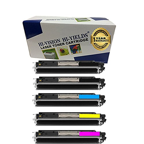 HI-VISION HI-YIELDS Compatible Toner Cartridge Replacement for HP 126A ( 5-Pack )