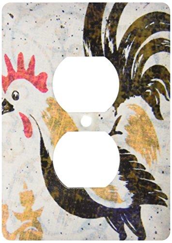 Rooster Outlet Cover - 3dRose LLC lsp_11385_6 Vintage Rooster Digital Art by Angelandspot, 2 Plug Outlet Cover