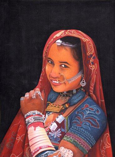 Gypsies of India Series -4 - Water Color Painting On Paper (Series Mk20)