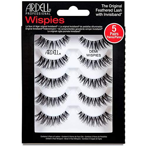 Ardell False Eyelashes Demi Wispies Black, 1 pack (5 pairs per pack)