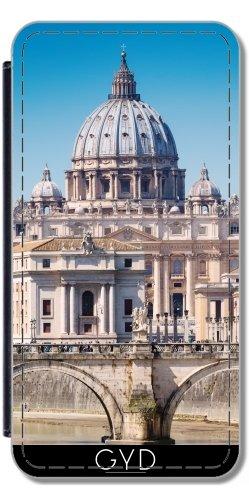 Leder Flip Case Tasche Hülle für Apple iPhone 5/5S - St. Peter Basilika In Rom by Carsten Reisinger