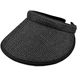 Earland Brothers Ladies & Mens Unisex Wider Brim Straw Push on Sun Visor