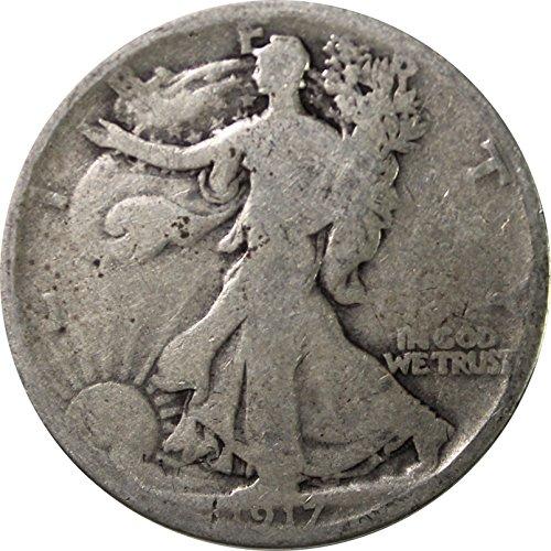 1917 P Walking Liberty Half .50c Average Circulated