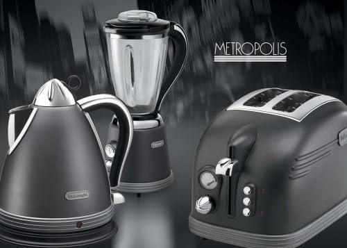 DeLonghi KF8150M Metropolis blender, Metal, Vidrio - Licuadora ...