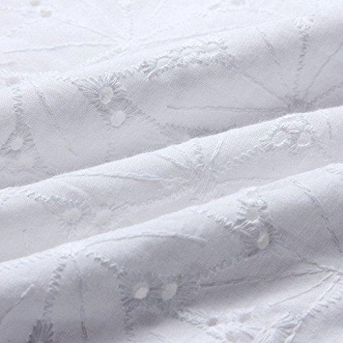 Camicia Camicetta Parola Casual Maglietta Senza Top Schienale Pizzo Lunga Moda Bianco Cinghietti Blusa Eleganti Donna Shirt Spalline T Di Senza Spalla Manica Estivi Di rqxrIw6X