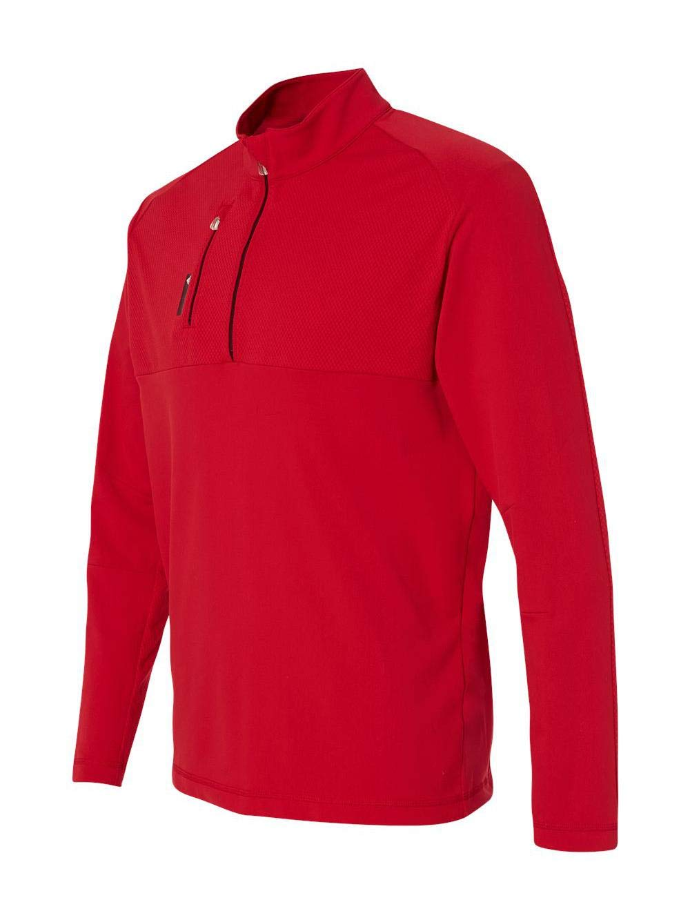 adidas Golf Mens Puremotion Mixed Media Quarter-Zip (A195) -BLD RED/AM -M