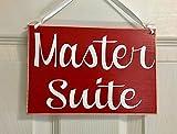 Master Suite 8x6 (Choose Color) Rustic Custom Bedroom Bed and Breakfast Hotel Spa Sleep Resort Welcome Door Plaque Hanger